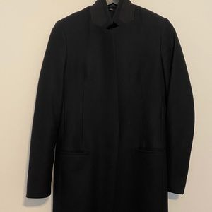 All saints black Nehru wool coat size 4 worn once